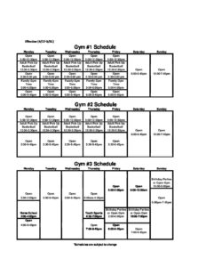 May 2019 Gym Schedules - St Cloud YMCA